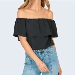 Amuse Society Between The Lines Woven Top
